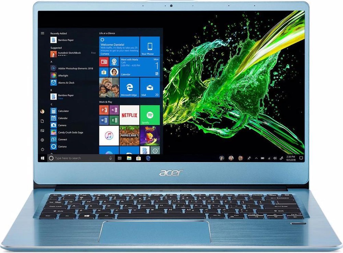 Acer Swift 3 SF314-41-R70W - 14 inch Full HD IPS scherm - AMD Ryzen 5 - 8 GB - 512 GB SSD