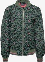 TwoDay meisjes bomber jas met luipaardprint - Groen - Maat 164 - Zomerjas