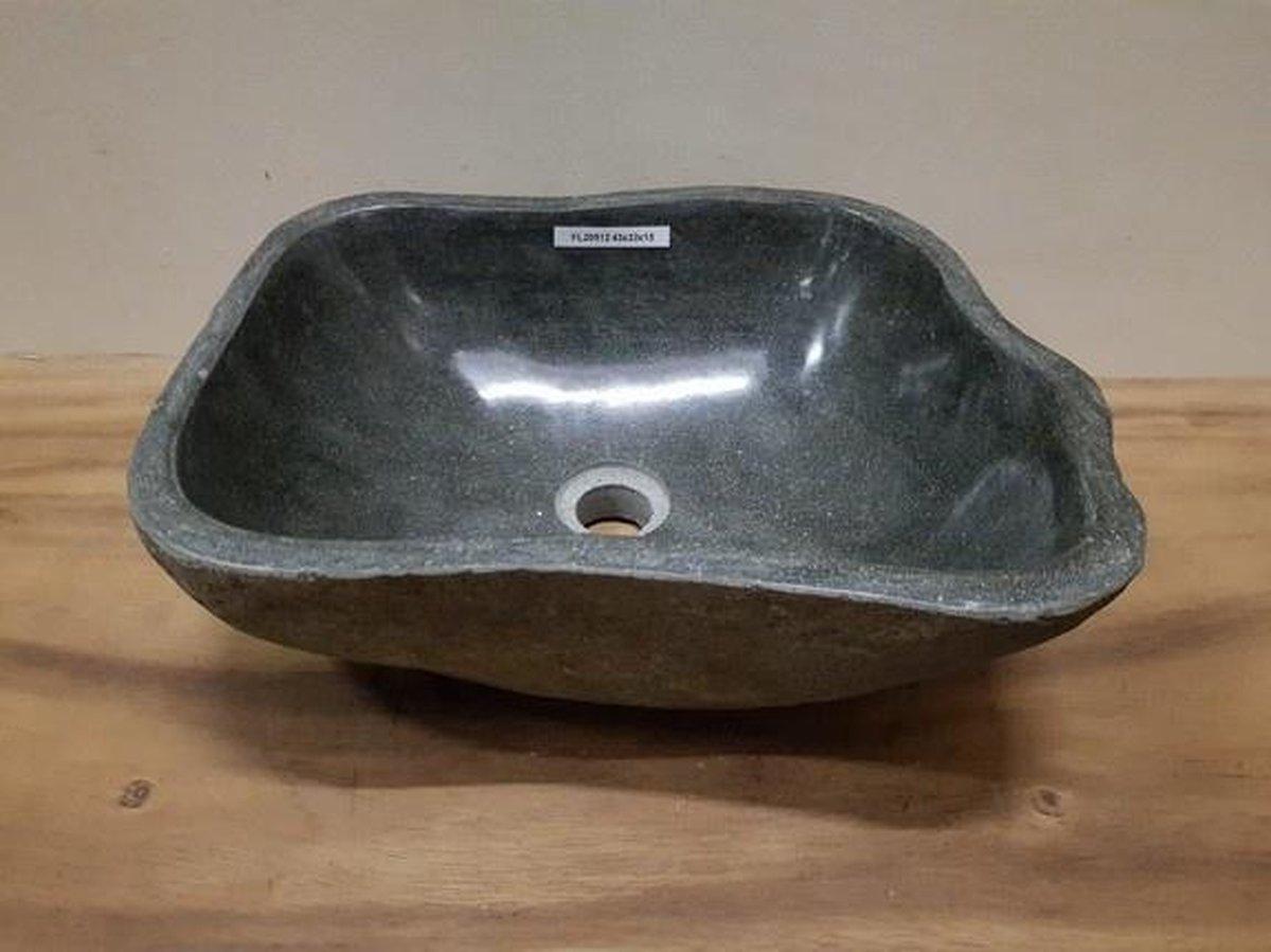 Waskom natuursteen FL20512 - 43x33x15cm