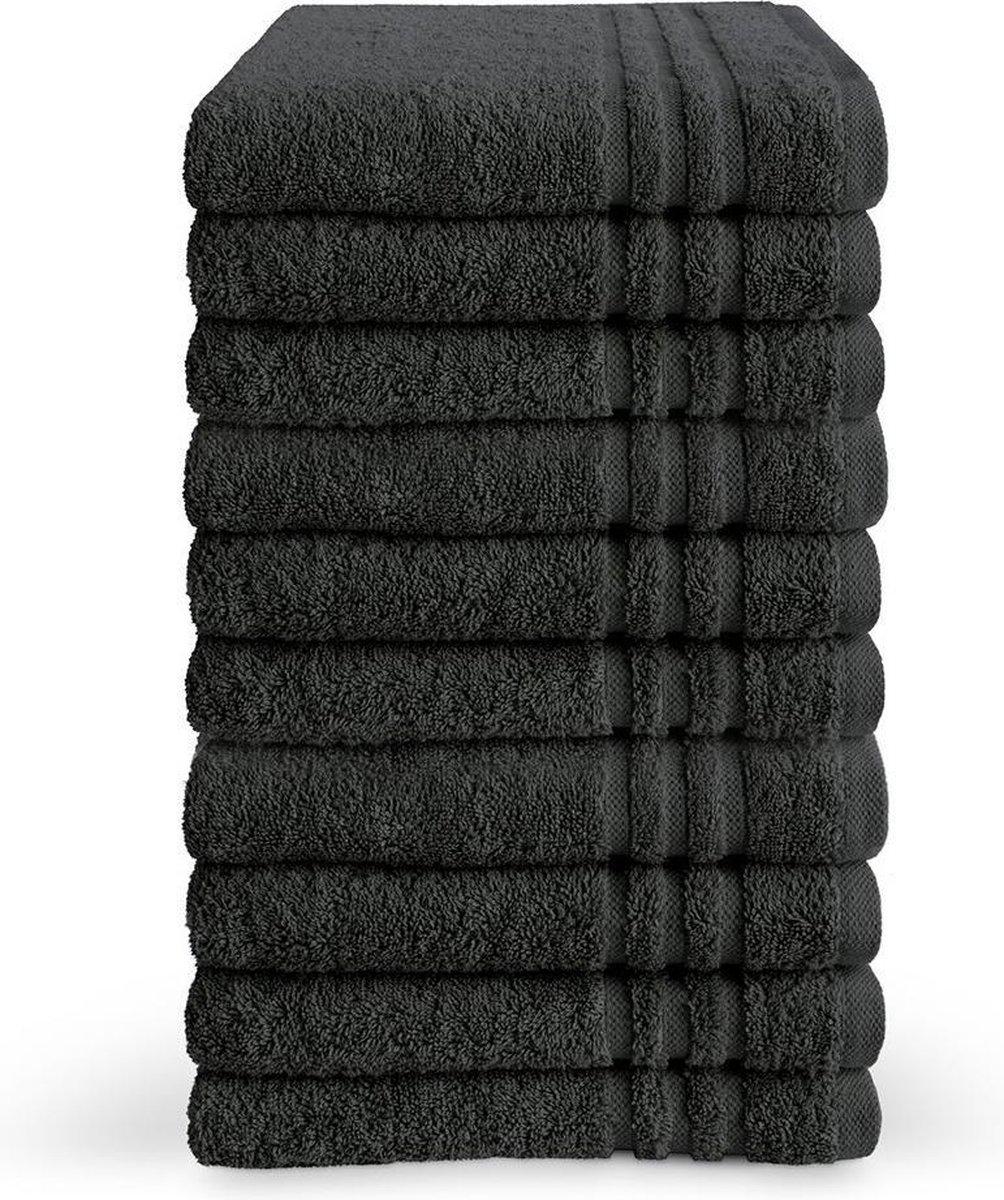 Byrklund Handdoek - Antraciet - 10 stuks - 50x100cm