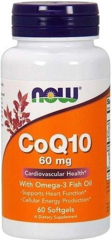 Now Coenzima Q 10 60 Mg 60 Caps