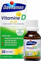 Davitamon vitamine D olie baby en kind - bevat vitamine D3 – suikervrij - 25ml