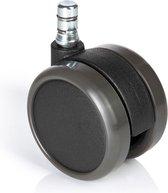 Bureaustoel Wiel - Zwart - 5x Rolo No-Noise 11mm/65mm