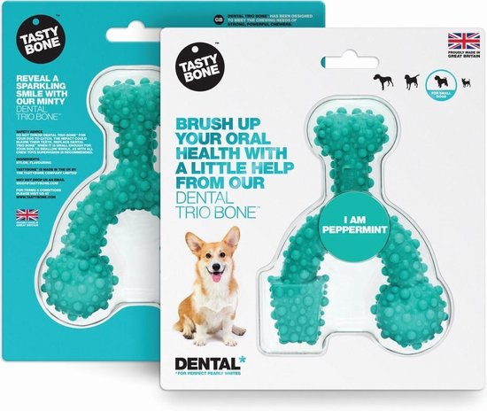 Dental Trio Bone Small - Peppermint