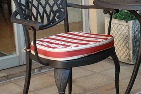 8 stoelkussens groen/wit gestreept 40x44x5 cm Collectie Ashbury