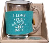Tijd voor thee - Theeglas - I love you to the moon and back
