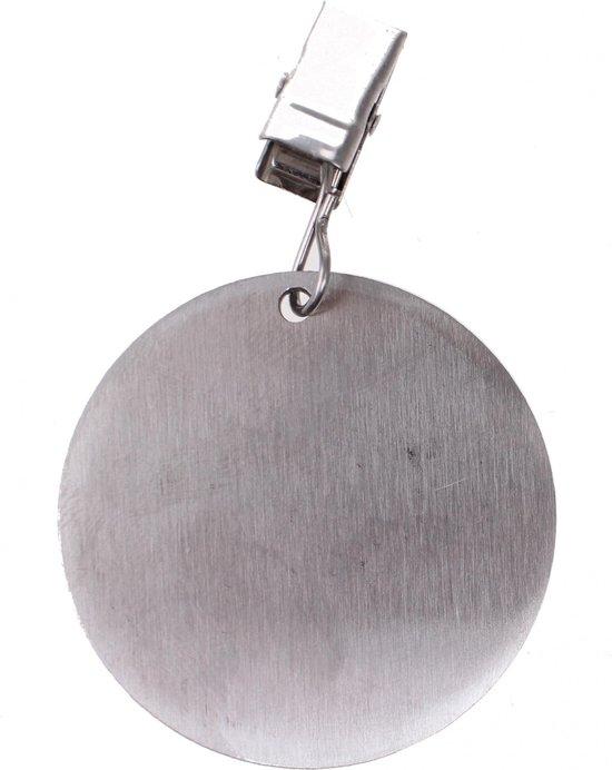 Tom Tafelkleedgewichten Rondje 4 Stuks Zilver