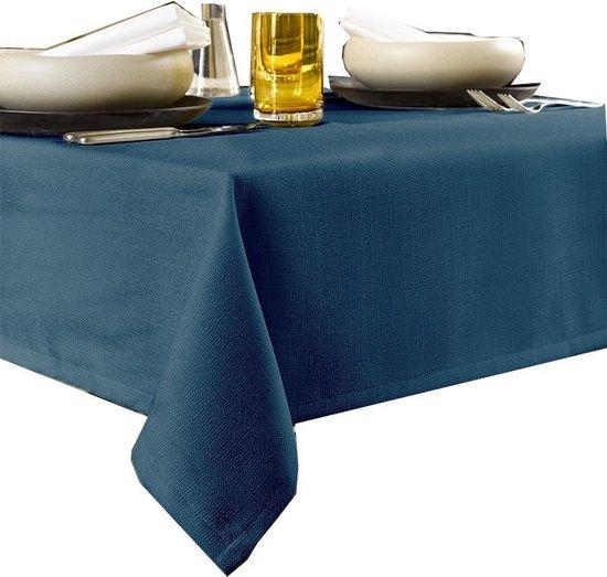 De Witte Lietaer Tafellaken Rond Gibson 190 Cm Polyester Donkerblauw