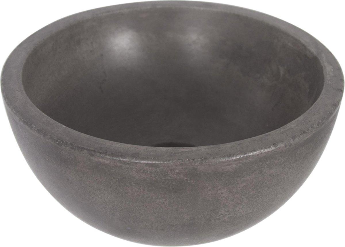 Differnz Ruz - Waskom beton donkergrijs - Rond - 25 x 25 x 11.5 cm