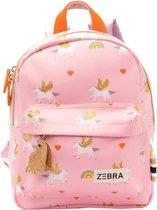 Zebra Trends Girls Rugzak S Unicorn Love pink2