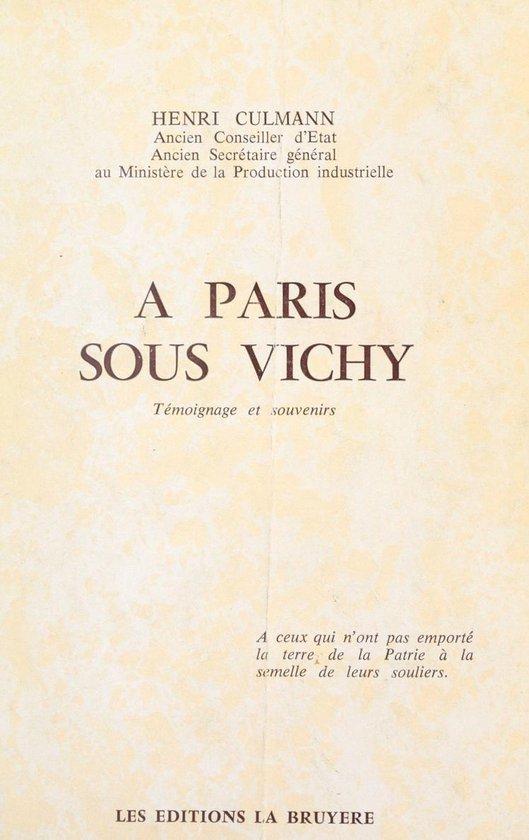 À Paris sous Vichy