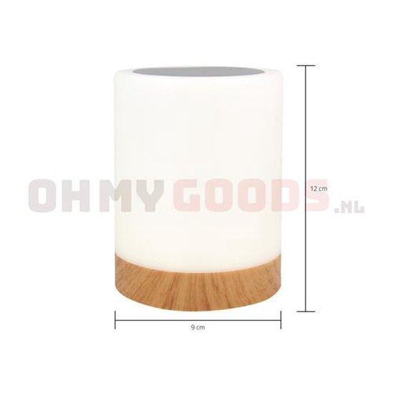OhmyGoods Ledlamp - 12cm - 6 kleuren - 3 standen