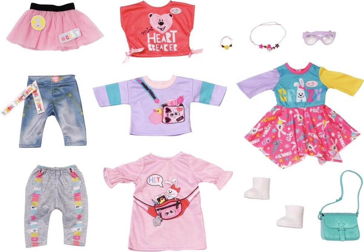 BABY born City Fashion Set Poppenkledingset 43 cm