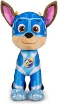 Pluche Paw Patrol knuffel Chase - Mighty Pups Super Paws - 19 cm - Cartoon knuffels - Speelgoed voor kinderen