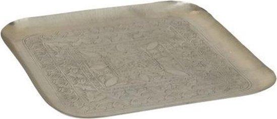 J-Line Plateau Vierkant Aluminium Grijs 60x60x4