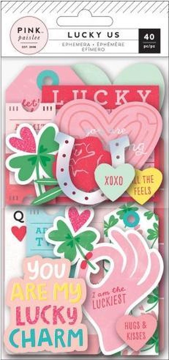 Pink Paislee • Lucky Us ephemera 40pc