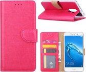 Huawei Y7 2017 - Bookcase Roze - portemonee hoesje