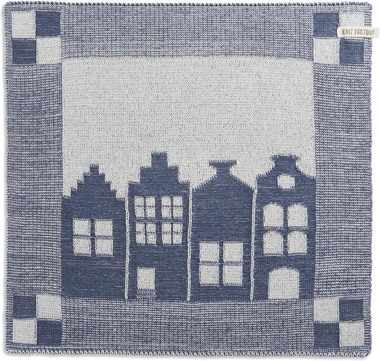 Knit Factory Keukendoek House - Ecru/Jeans
