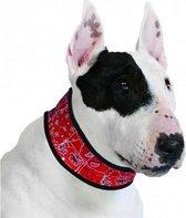 Halsband voor hond aqua coolkeeper red western 24-29 cmx3,5 cm