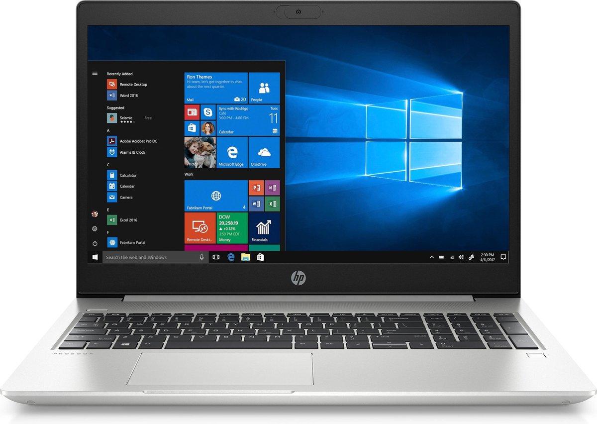 "HP ProBook 450 G7 Notebook Zilver 39,6 cm (15.6"") 1920 x 1080 Pixels Intel® 10de generatie Core™ i3 8 GB DDR4-SDRAM 256 GB SSD Wi-Fi 6 (802.11ax) Windows 10 Pro"
