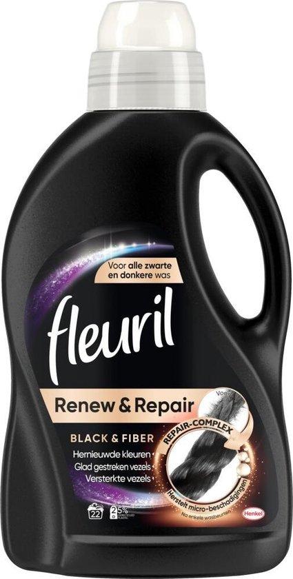 3x Fleuril Wasmiddel Black & Fiber 1320 ml