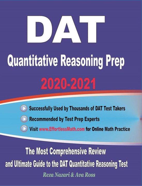 DAT Quantitative Reasoning Prep 2020-2021