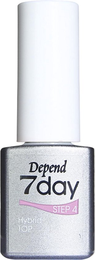 Nagellak Gellak zonder lamp Topcoat Depend 7 Days 7999 transparant 5ml