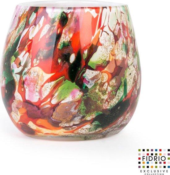 Design vaas Fiore - Fidrio MIXED COLOURS - glas, mondgeblazen bloemenvaas - diameter 22 cm
