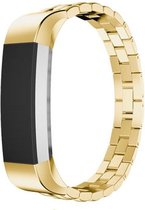 Metaal schakel bandje goud geschkt voor Fitbit Alta