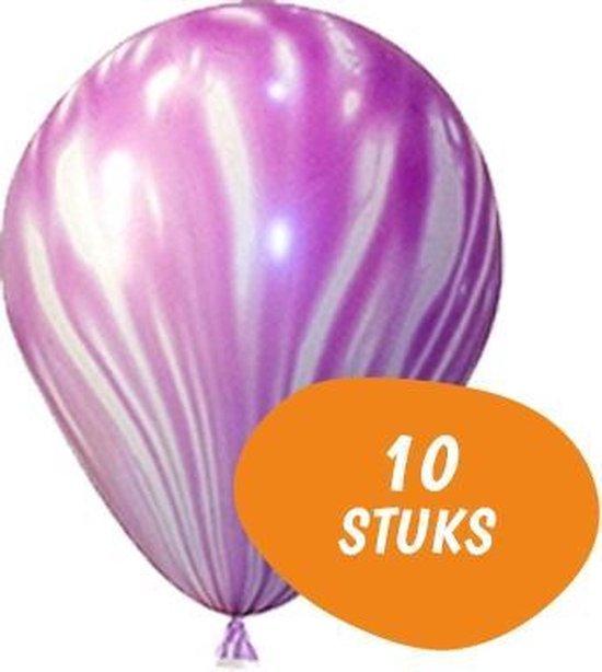 Marmer Ballonnen - 10 Stuks - Paars