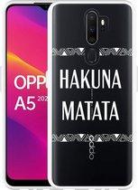 Oppo A5 2020 Hoesje Hakuna Matata white