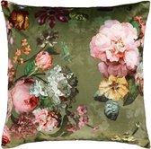 ESSENZA Fleur Sierkussen Mosgroen - 50x50 cm