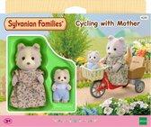 Sylvanian Families 4281 Fietsen Met Mama  - Speelfigurenset