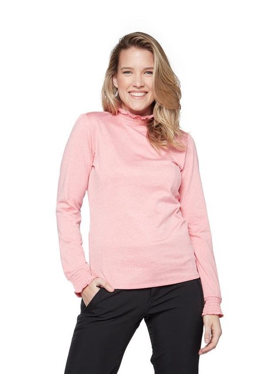 Protest Zoom Powerstretch Top Dames Ski Pulli Met Rits Rose