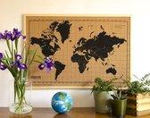 Milimetrado - Prikbord Wereldkaart - Kurk