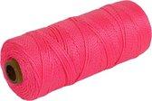 Touw/uitzetkoord roze 200 m - Touwen - Metselkoord/uitzetkoord/uitzetdraad - Tuin aanleggen bestrating/bestraten/tegelen basismateriaal