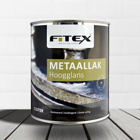Fitex-Metaallak-Hoogglans-Ral 9016 Verkeerswit 2,5 liter