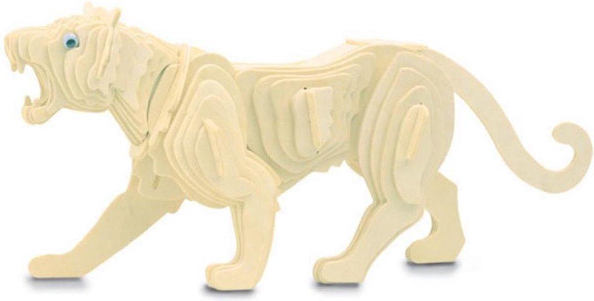 Bouwpakket 3D Puzzel Tijger - hout