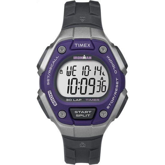 Timex Ironman TW5K89500 Horloge – Kunststof – Zwart – Ø 38 mm