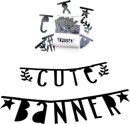 Letter banner: Zwart | A Little Lovely Company