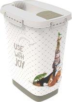Rotho Mypet Voeder Strooicontainer Grijs&Cappuccino - Hondenvoerbewaarbak - 10 l