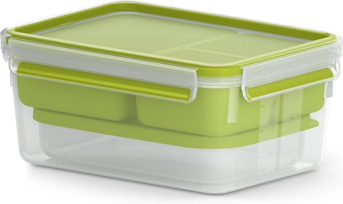 Tefal Masterseal To Go Lunchbox XL - 2,2L - met inlays