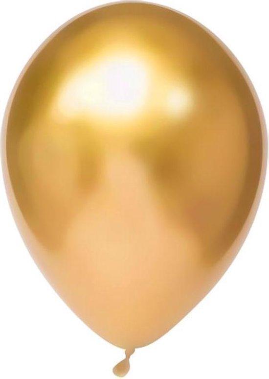 Haza Original Ballonnen 30 Cm 50 Stuks Goud/chroom