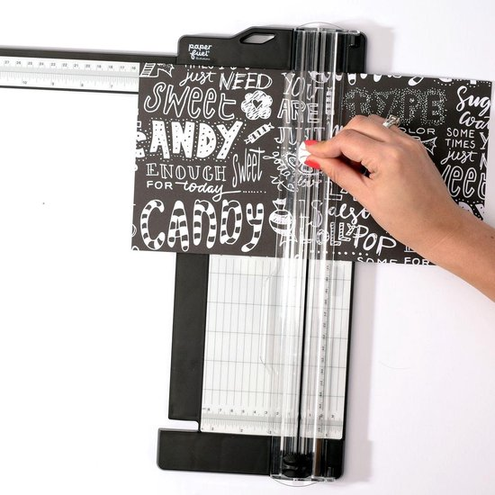 Paperfuel Snijmachine, Papiersnijder met Uitklapbare Liniaal 30,5 x 11,4 cm - Paperfuel