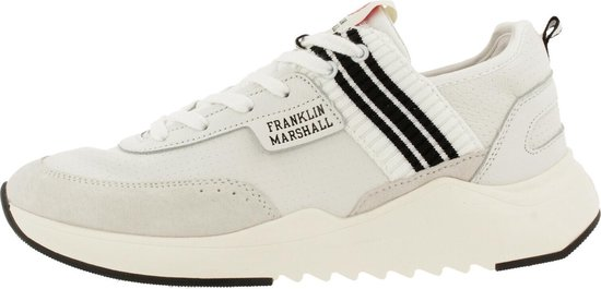 Franklin & Marshall Alpha Holes Sneaker Men Wht-Blk 42