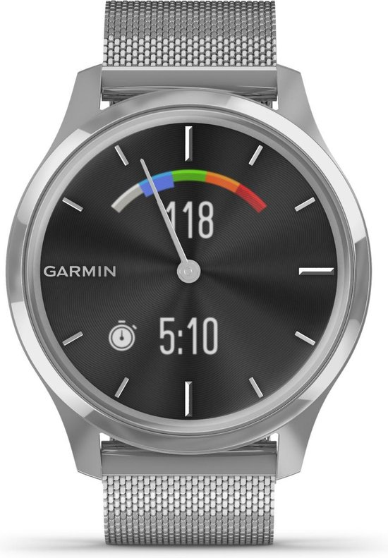 Garmin 010-02241-03 Smartwatch Vivomove - 42mm - luxe Silvermesh