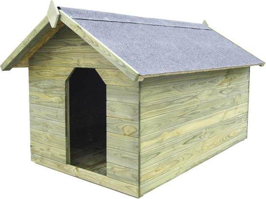 Hondenhok met opklapbaar dak FSC geïmpregneerd grenenhout