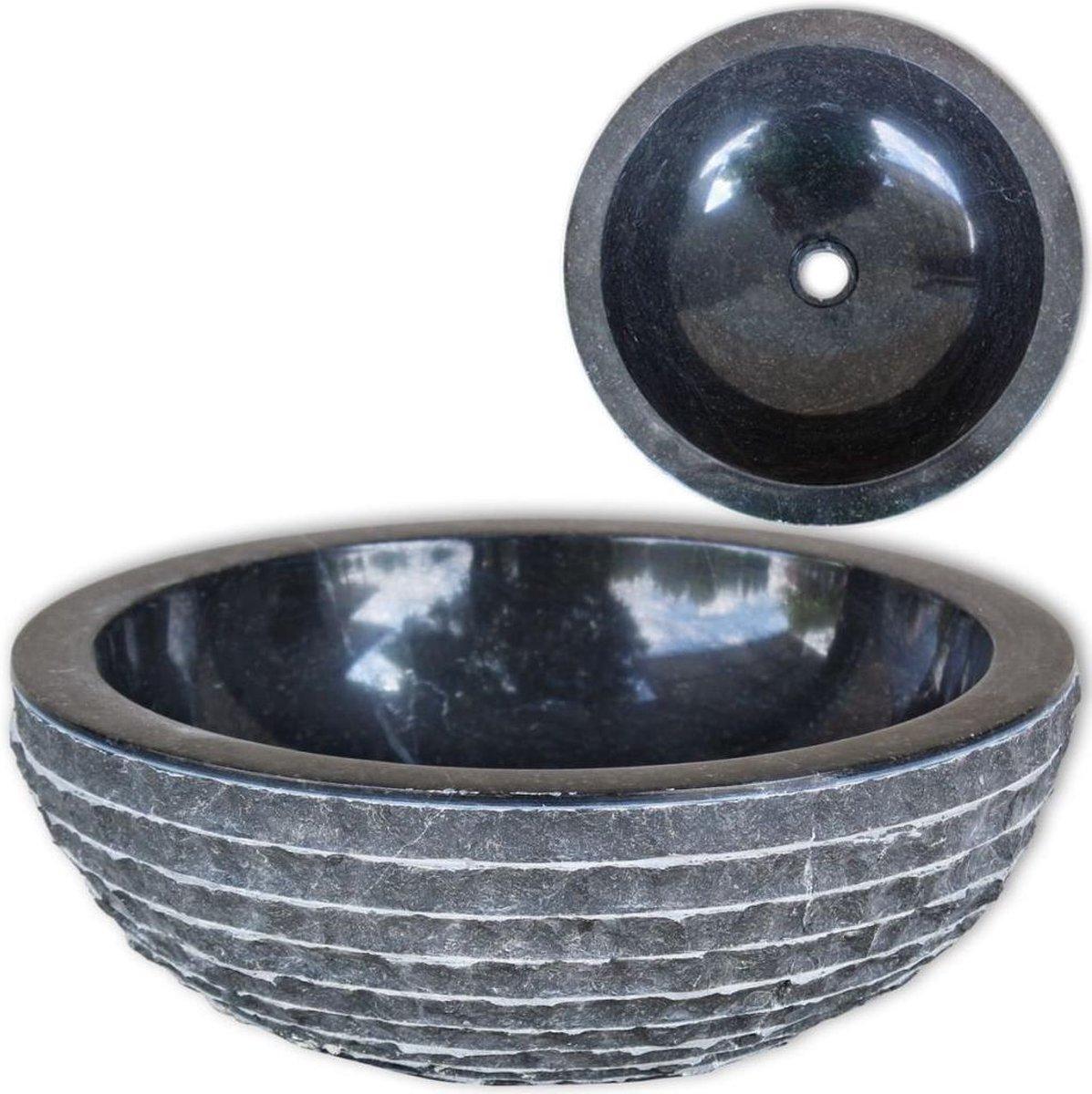 Wastafel 40 cm marmer zwart