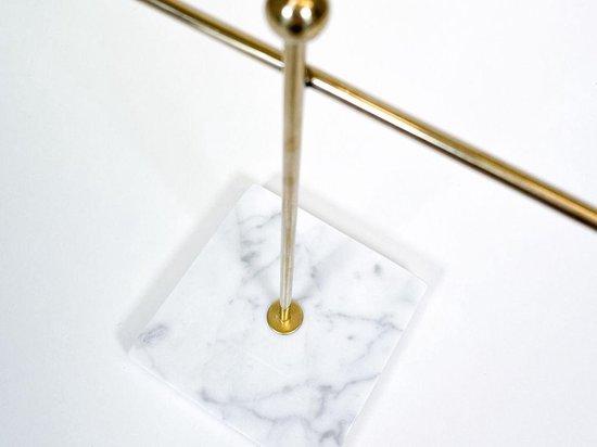 LYVION Sieradenstandaard van marmer en goud / Sieradenhouder voor horloges, armbanden en kettingen - Goud en wit