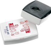 3M 6035 Stoffilterset P3 met weinig ademweerstand